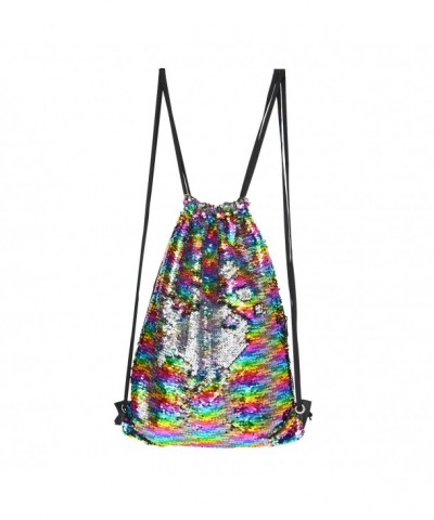 Sparkly Sequin Backpack Drawstring Rainbow