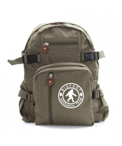 Bigfoot Research Heavyweight Canvas Backpack