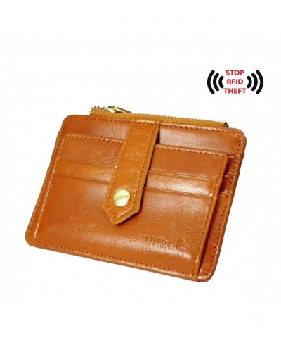 Womens Blocking holder Leather Wallet