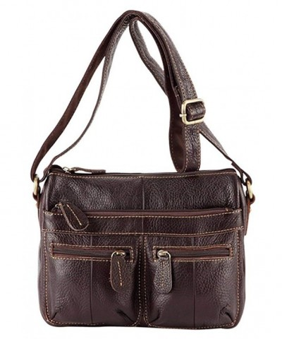 ILISHOP Leather Vintage Crossbody Shoulder