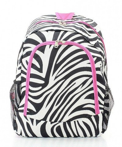 Zebra Print Large Lightweight Backpack