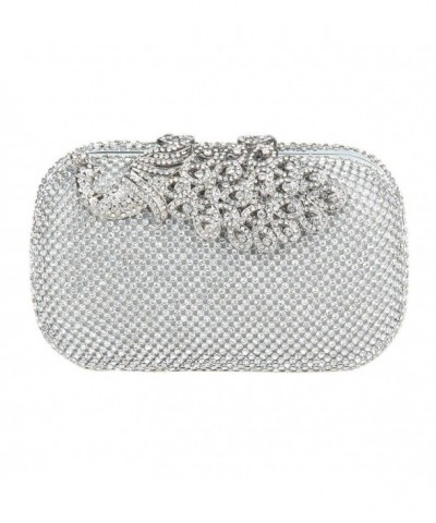 Elegant Rhinestone Peacock Cocktail Handbags