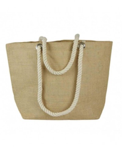 Eco friendly Burlap Beach Shopping Natural