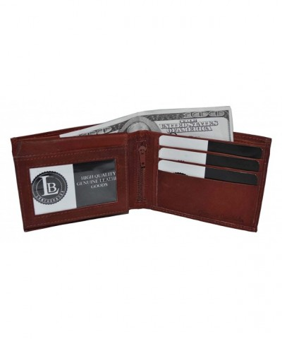 Genuine Cowhide Leather Bifold Wallet