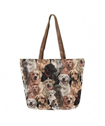 Tapestry Shoulder Handbag Labrador Charles