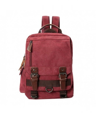 Dececos Canvas Backpack Rucksack Messenger