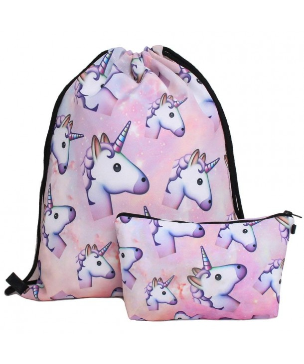 Waterproof Drawstring Backpack Travel Unicorn