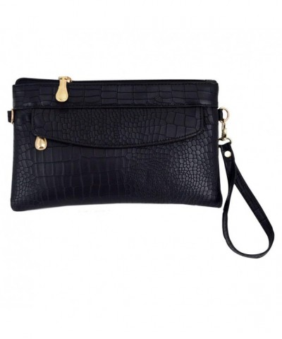 Leather Crocodile Wristlet Alligator Shoulder