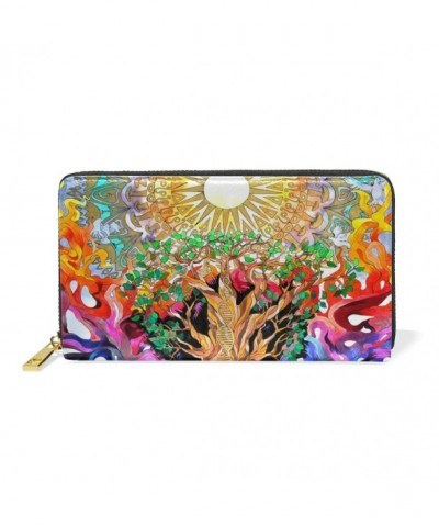 LORVIES Trippy Nature Leather Organizer