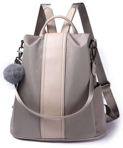 Backpack Waterproof Anti theft Rucksack Nylon Khaki