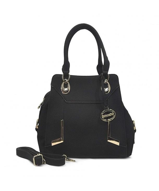 Sorrentino Womens Handbag Satchel Black