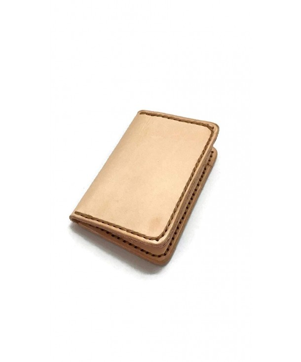 Leather handmade Minimalist Wallets Veg tan