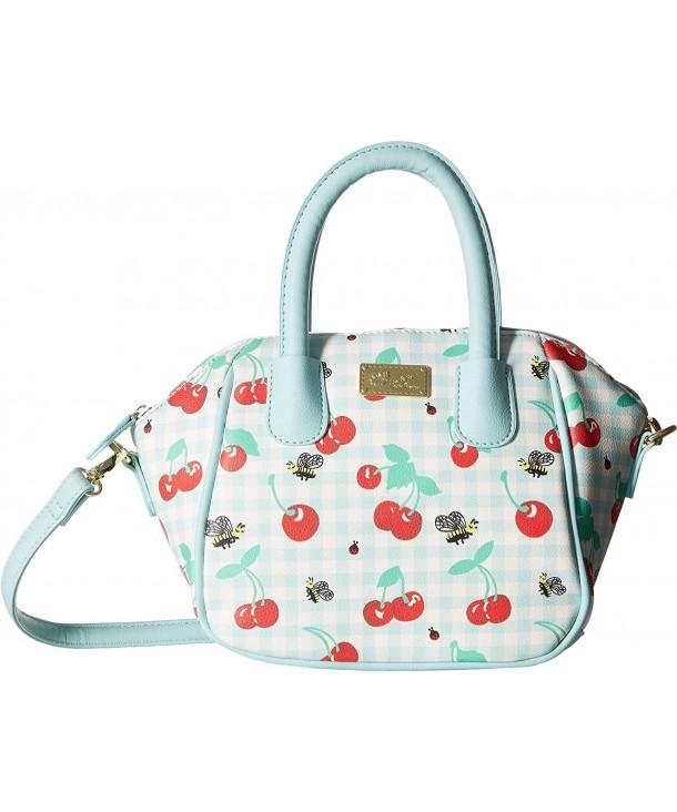 Luv Betsey Womens Satchel Cherries