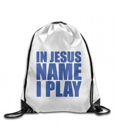 Unisex Jesus Sports Drawstring Backpack