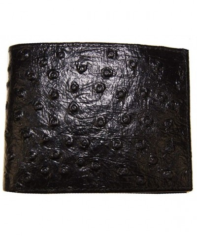 Genuine Leather Ostrich Designed Embossed
