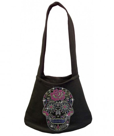 Rhinestone Sugar Skull Purse Shoulder