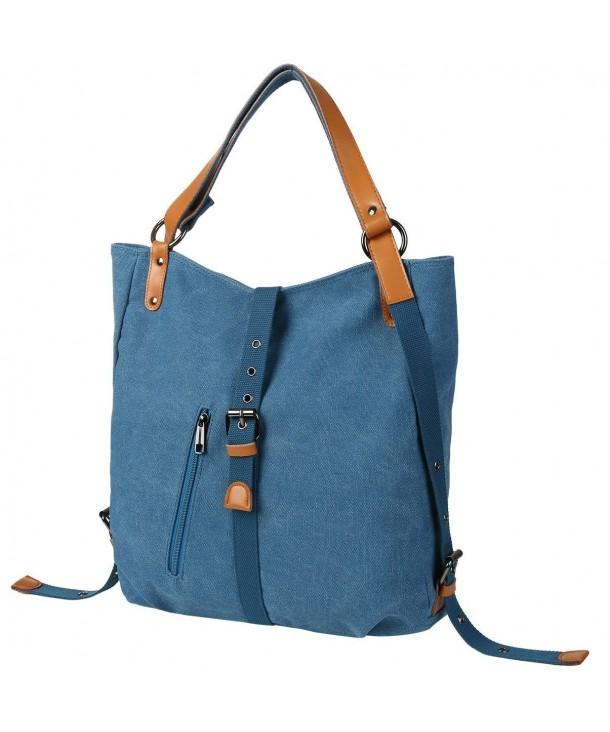 ... Women Girl Backpack Purse Convertible Canvas Rucksack Shoulder Bag -  Dein Blue - CQ18G85EN6C. Vbiger Backpack Convertible Rucksack Shoulder 606d4d63dba7c
