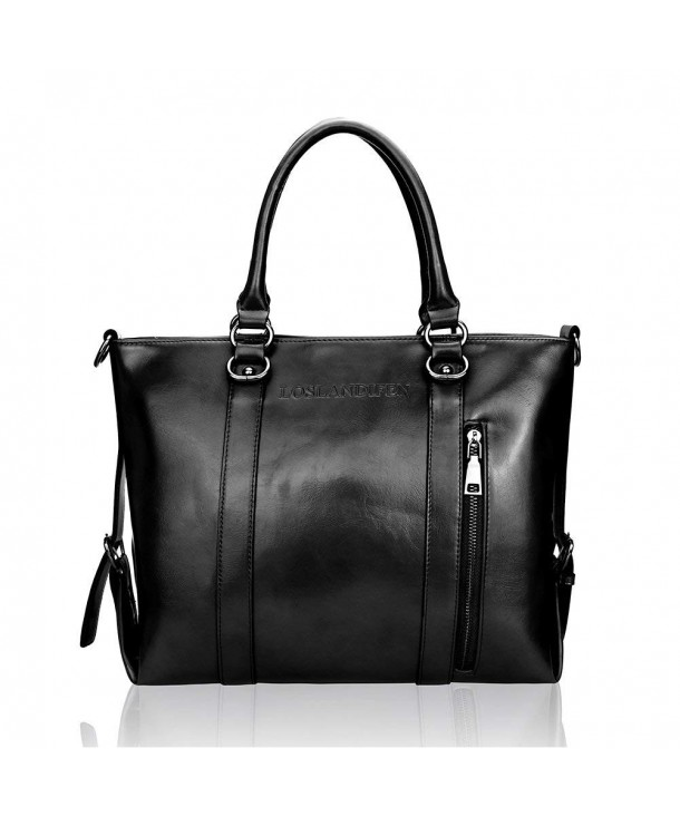 Loslandifen Handbags Spacious Leather Top Handle