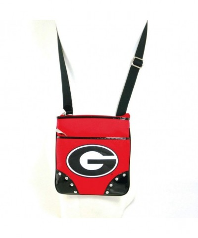 University Georgia Canvas Cross Body Studde