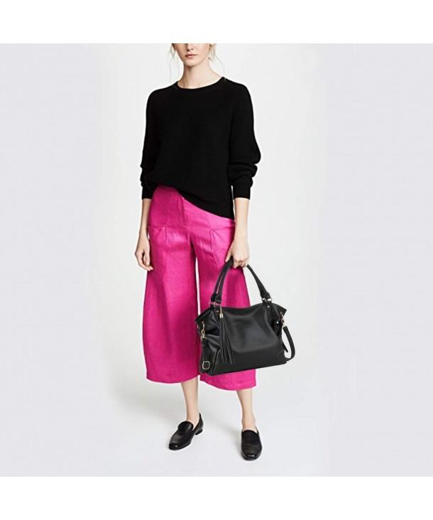 Bageek Handbags Satchel Shoulder Leather