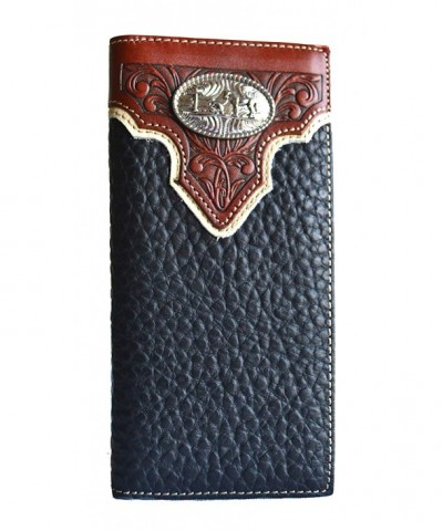 western praying concho leather bifold