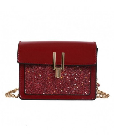 Kingfansion Fashion Sequins Messenger Shoulder