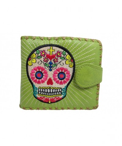 Lavishy Flower Embroidered Medium Wallet