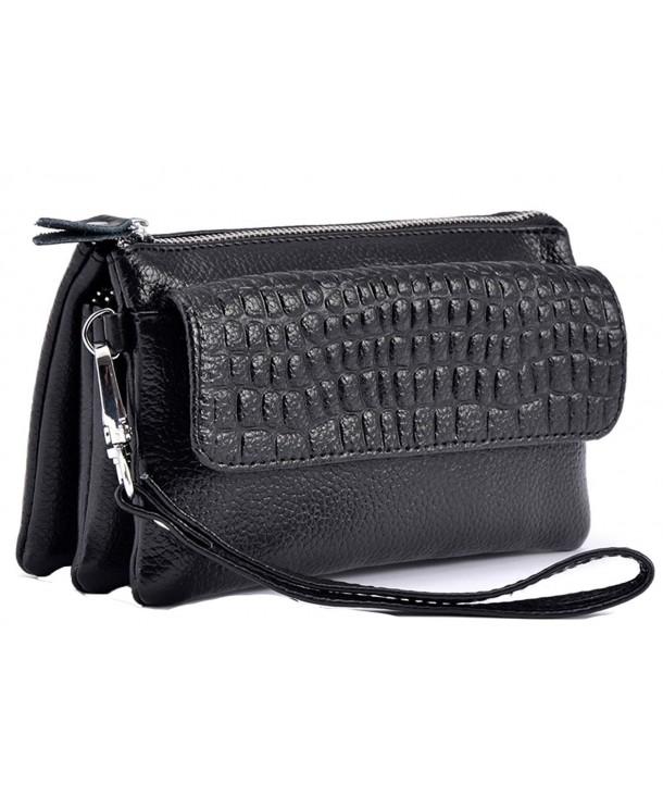 iSuperb Clutch Leather Wristlet Shoulder