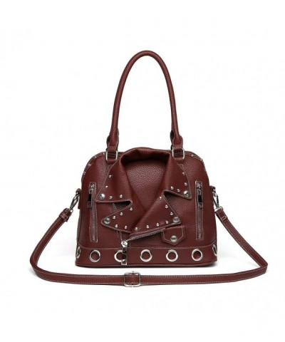 Handle Studded Handbag Detachable Shoulder