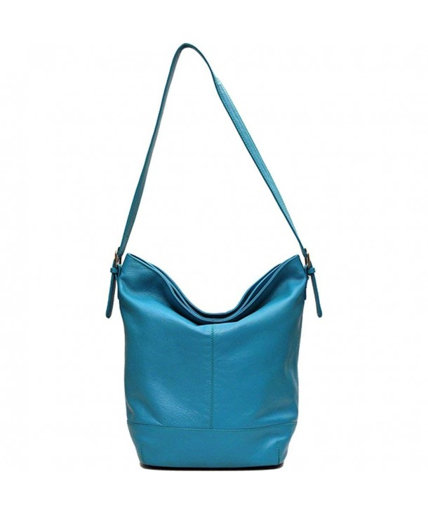 Classic Leather Bucket Shoulder Handbag