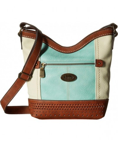 Womens Fanning Bottom Crossbody Saddle