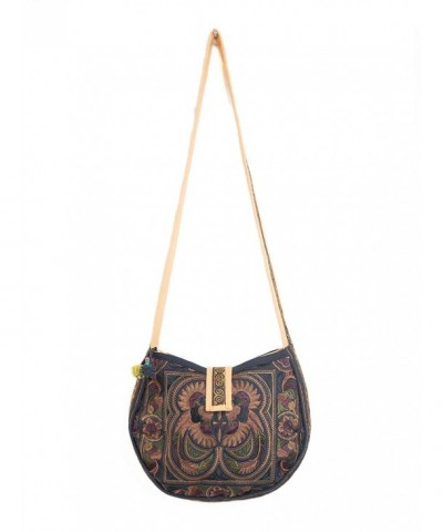 Changnoi Mocha Crossbody Embroidered Fabric