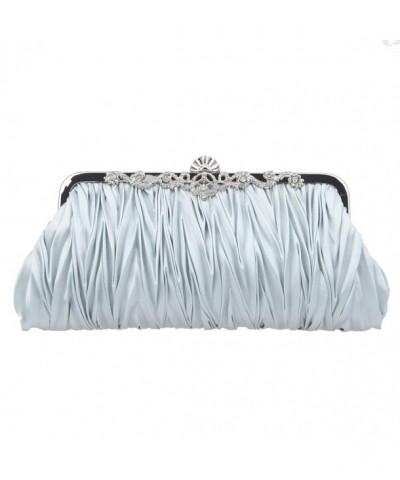 Fawziya Sequins Fashion Evening Bags Silver