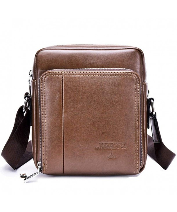 VOLOCEAN Leather Messenger Business Shoulder