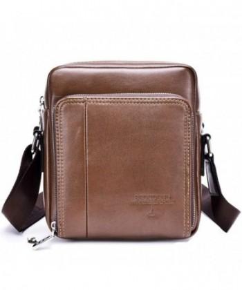 VOLOCEAN Leather Messenger Business Shoulder