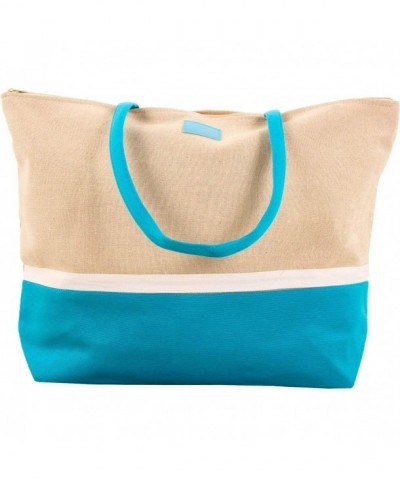 SLM Canvas Shoulder Shopper Bag Blue
