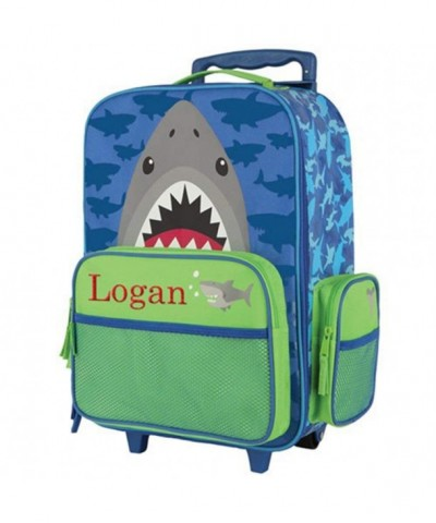 Embroidered Shark Rolling Luggage Childrens