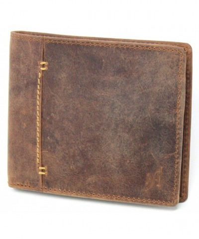 Starhide Blocking Distressed Leather 1050 BRN