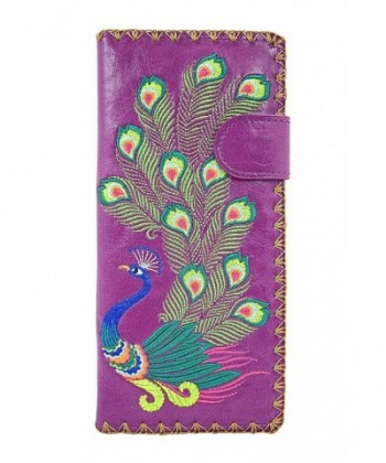 Lavishy Sacred Peacock Embroidered Wallet