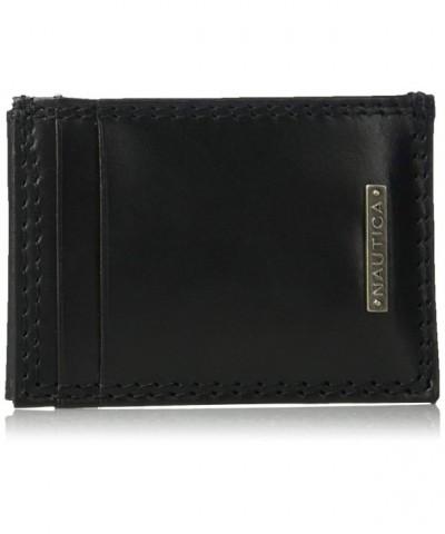 Nautica Blocking Leather Magnetic Pocket