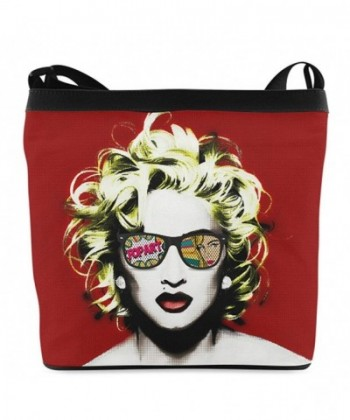 Ladies Girls Shoulder Madonna Print