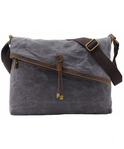 Crossbody Canvas Vintage Genuine Leather