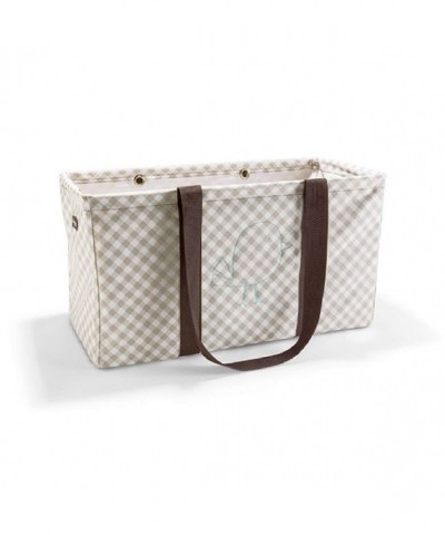 Thirty Large Utility Taupe Gingham