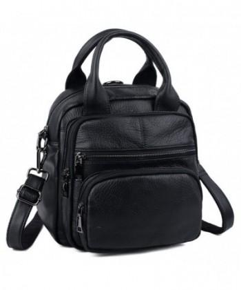 YALUXE Backpack Leather Rucksack Shoulder