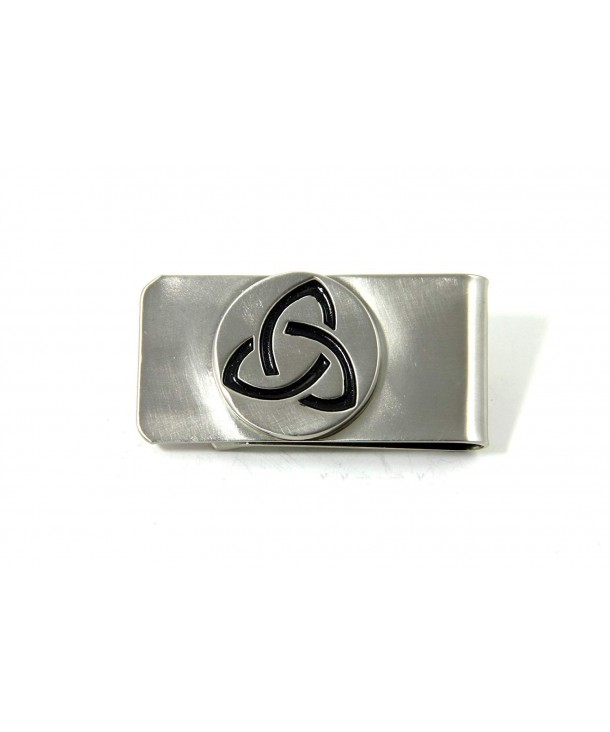 Robert Emmet Company Celtic Money Clip Trinity Knot Stainless Steel