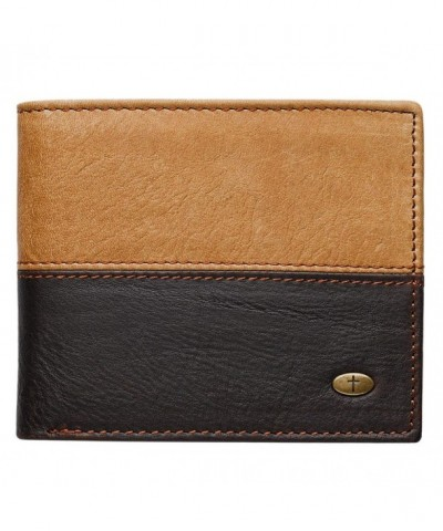 Two Tone Genuine Leather Wallet Cross