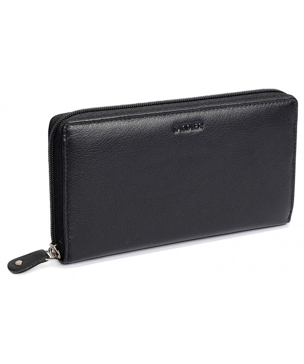 SADDLER Ladies Continental Black Wallet