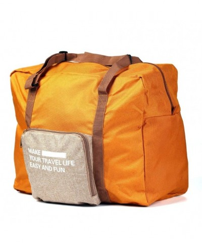 Foldable Lightweight Duffel Luggage Terracotta