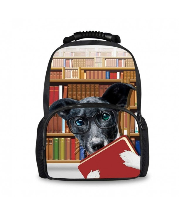 8610ae883653 Stylish 3D Zoo Animals Pattern Backpacks for Children School Book Bags -  bookshelf dog - CQ18G2C2UGK