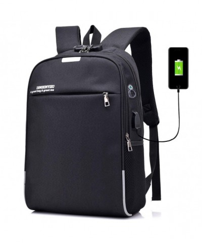 Backpack Student Bookbag Rucksack Earphone
